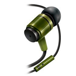 AudiOHM RNF army green earbuds