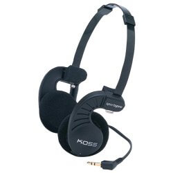 Koss SportaPro black on-ear exercise headphones