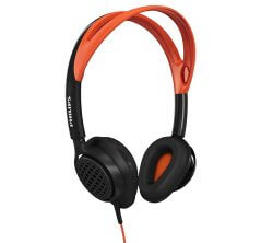Philips ActionFit SHQ5200 orange on-ear headphones for running
