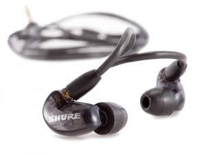 Shure SE215 black earbuds for running