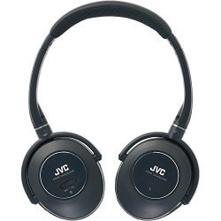 JVC HA-NC250 black noise cancelling headphones