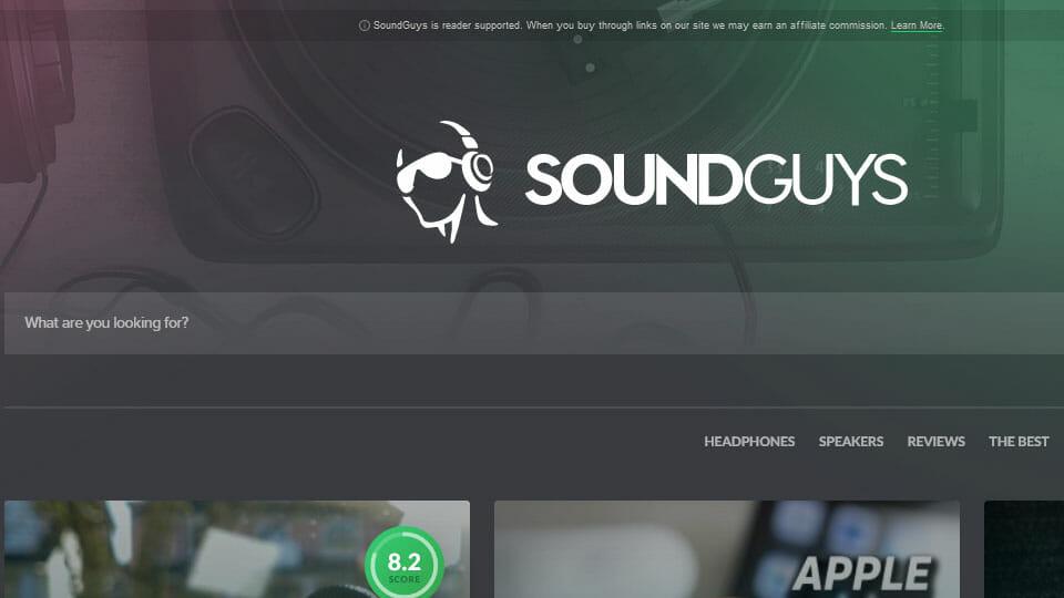 SoundGuys website