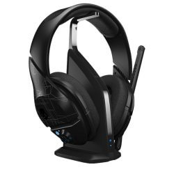 Skullcandy PLYR1 black headset on a stand