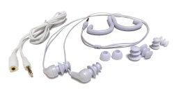 white Swimbuds waterproof headphones