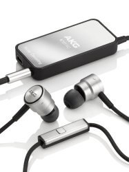 silver AKG K391 NC earbuds