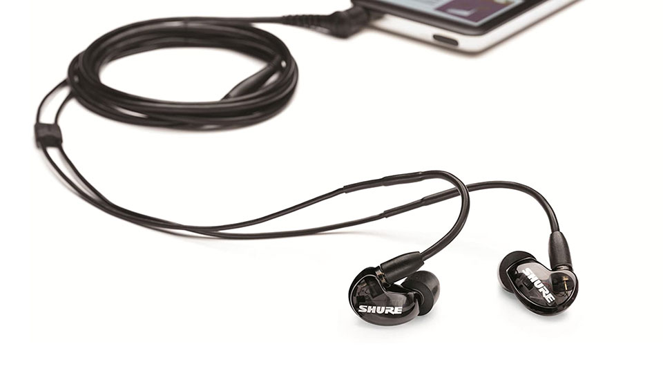 Shure SE215 wired in-ear monitor