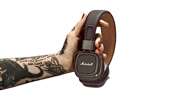Marshall Major II Bluetooth Headphones in hand