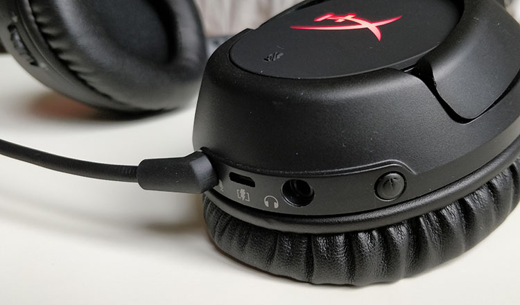 HyperX Cloud Flight power button
