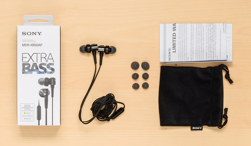 Sony MDR-XB50AP Extra Bass unboxed