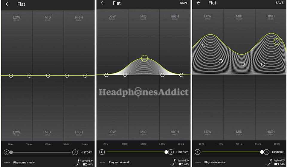 Jaybird X4 custom eqalizer app