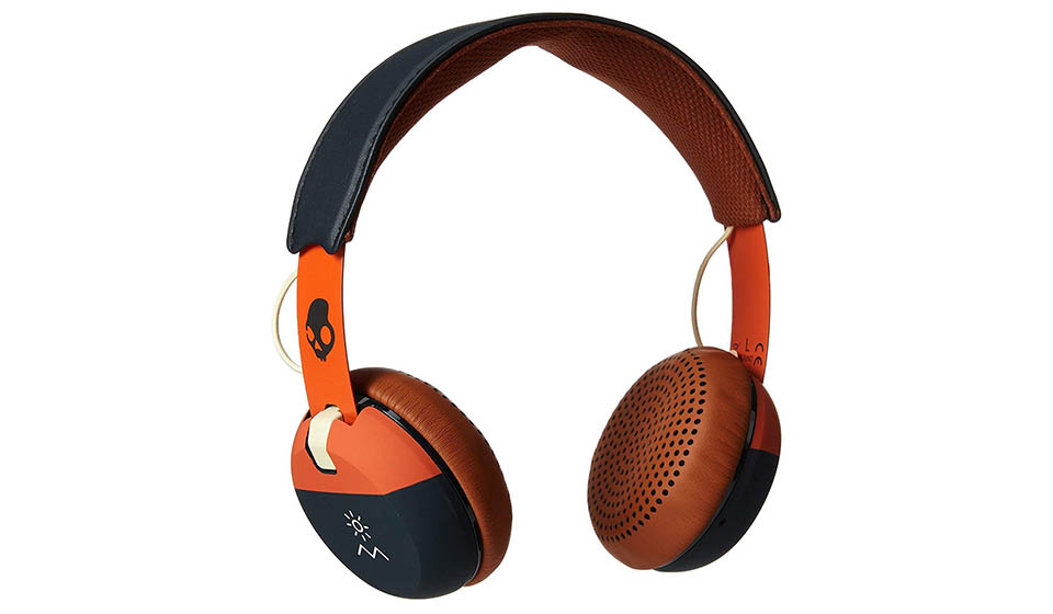 Skullcandy Grind orange wired