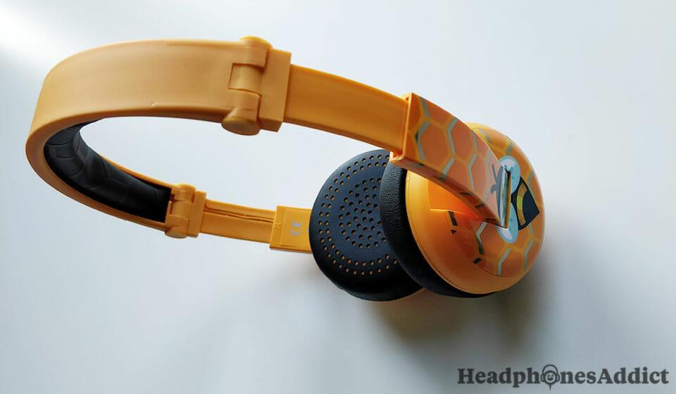 BuddyPhones Wave orange headphones
