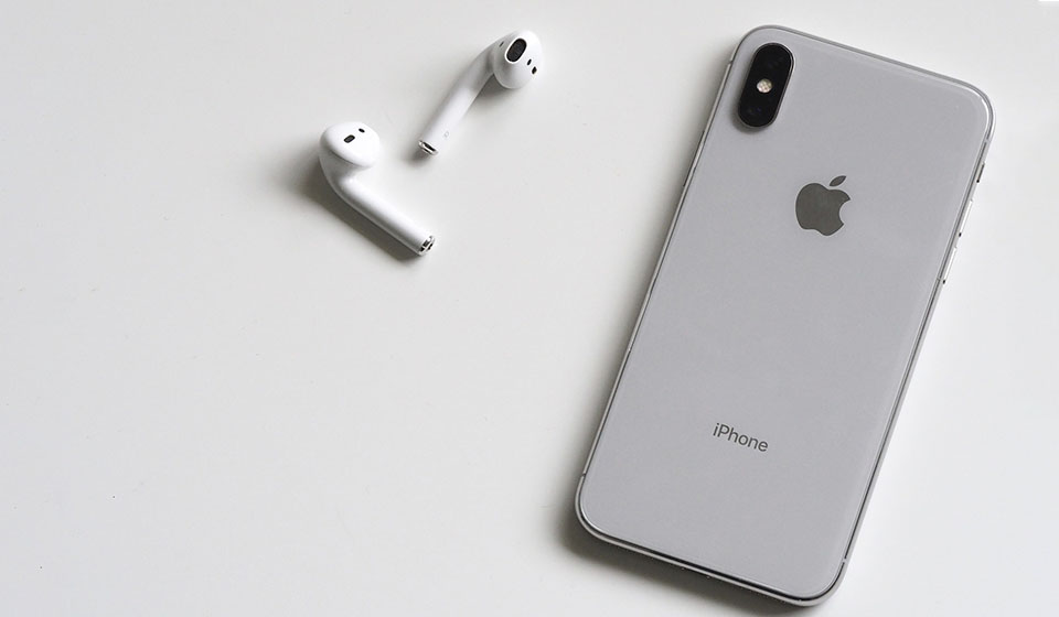True wireless Apple earbuds with iPhone