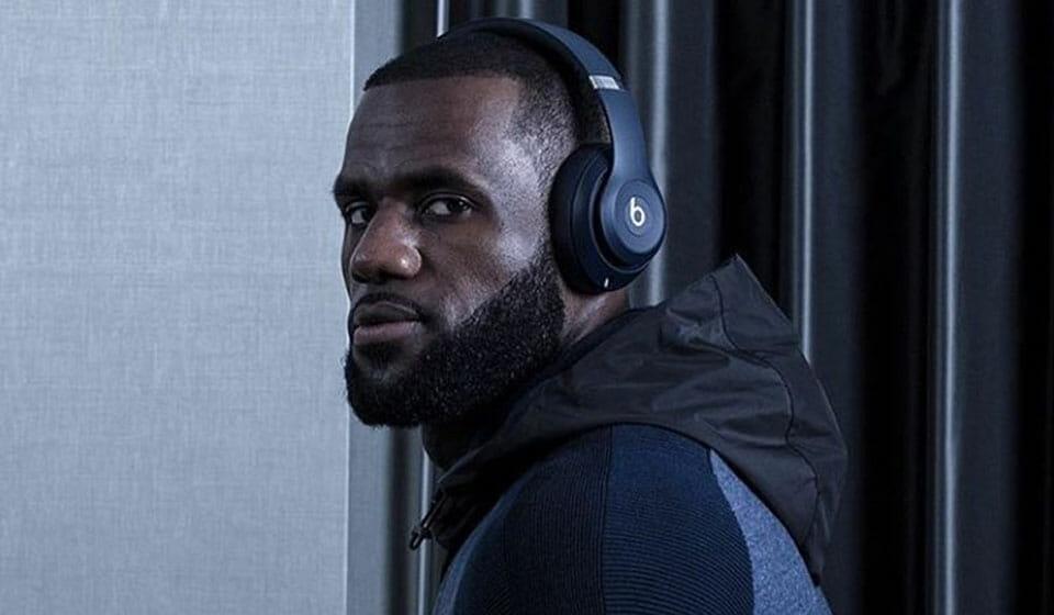 LeBron with Beats headphones