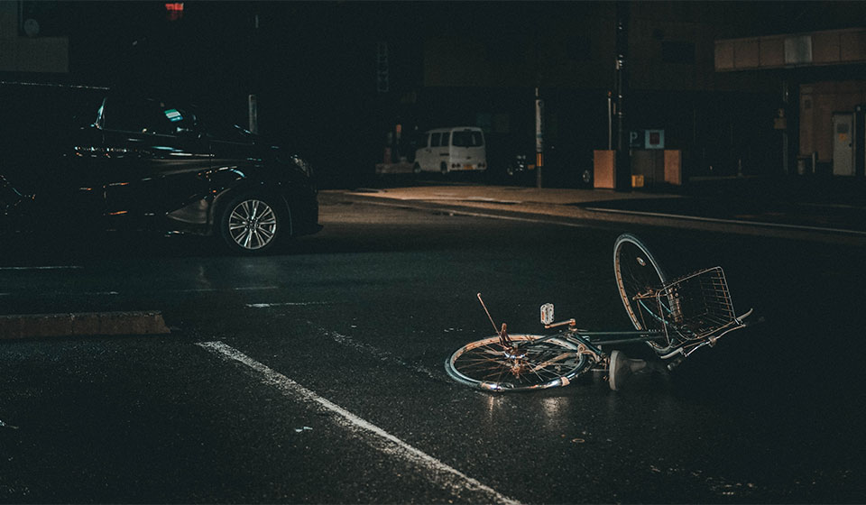 Bicycle accident with car