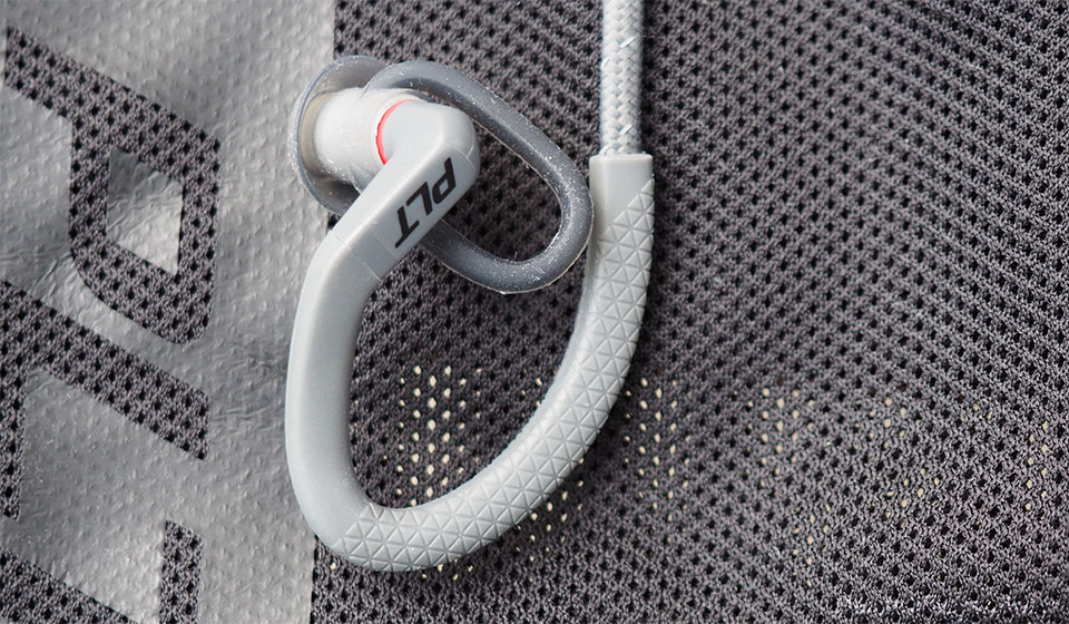 Plantronics earbuds with ear hooks and ear wings