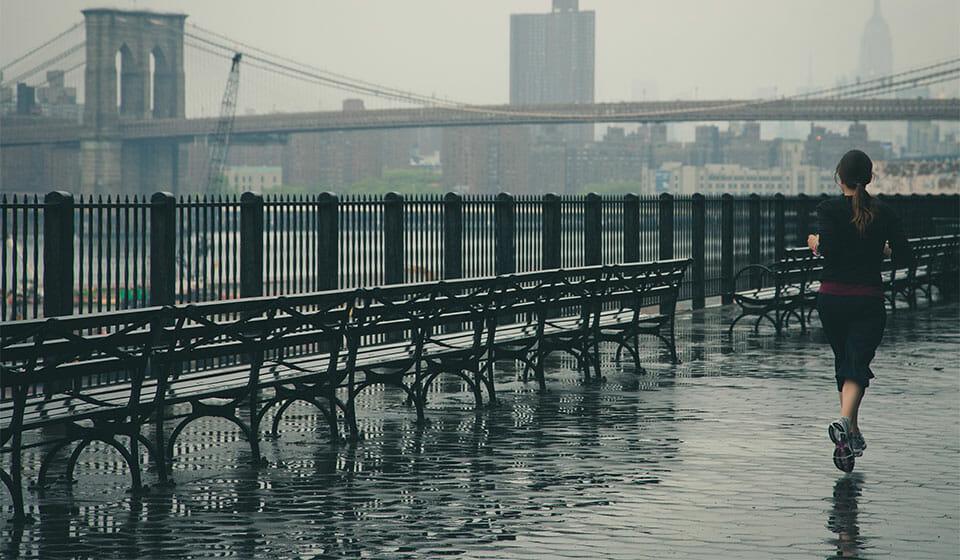 Running in rain