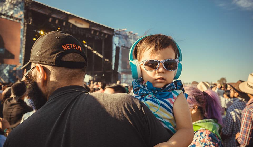 Kid with headphones