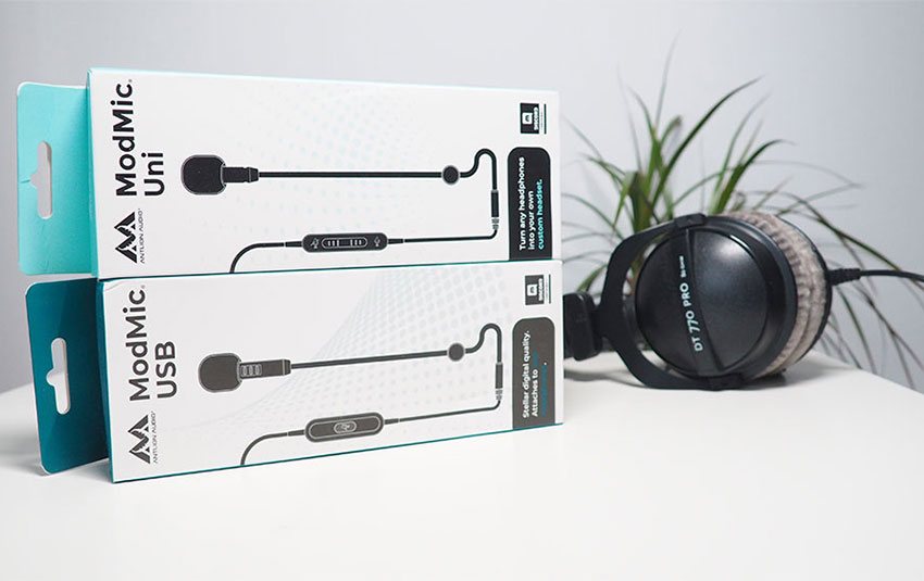 Antlion Audio ModMic Uni & USB in boxes