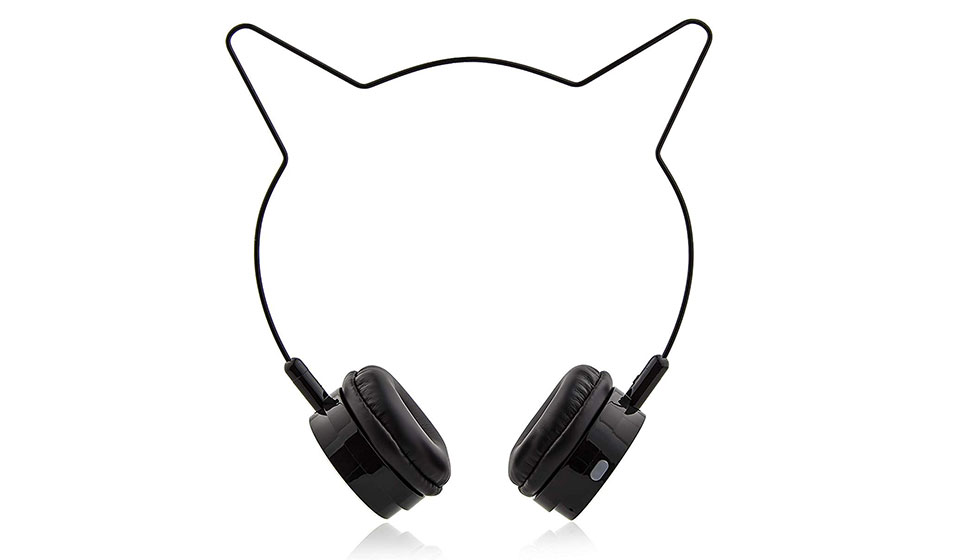 Lux Accessories Cat Ear Headphones