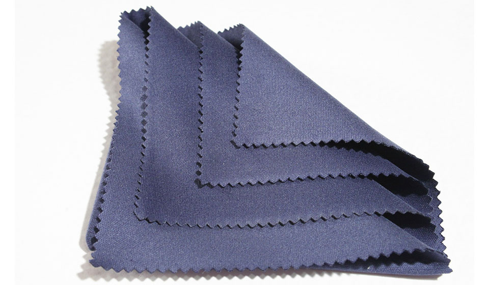 Blue microfiber cleaning cloth