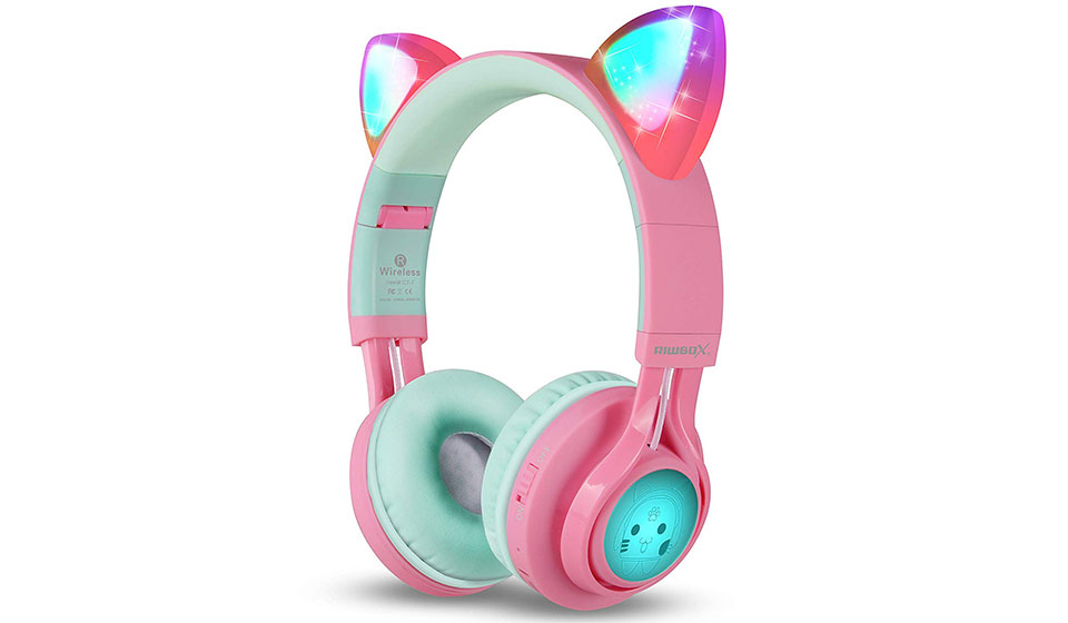 Riwibox Bluetooth Cat Ear Kids Headphones