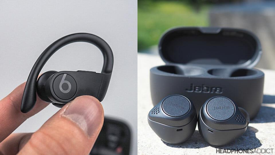 Beats PowerBeats Pro vs Jabra EliteActive 75t wireless earbuds