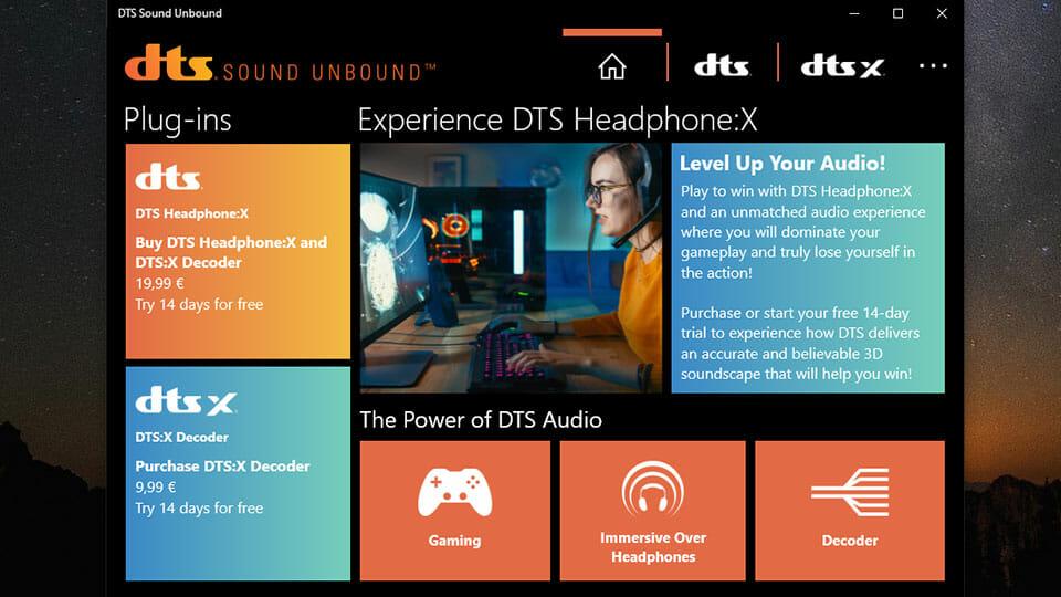 DTS Sound Unbound Microsoft Windows app