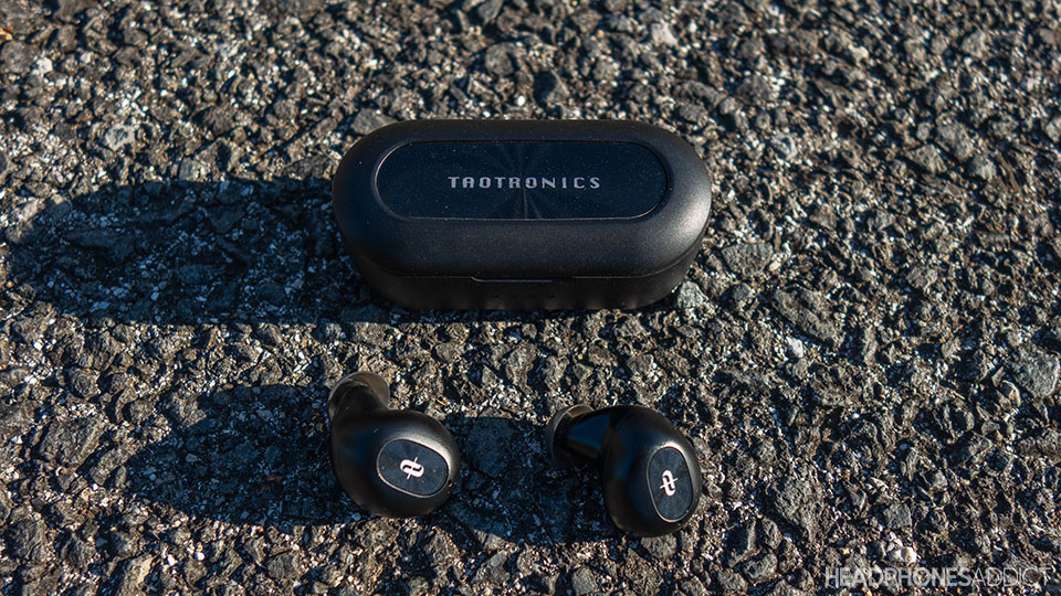 TaoTronics SoundLiberty 77 with the charging case