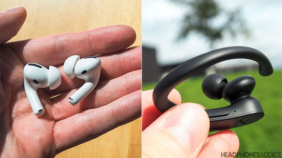 Beats PowerBeats Pro vs. Apple AirPods Pro up close