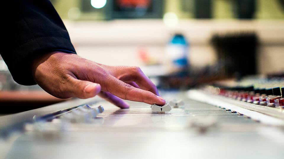 Mixing board studio