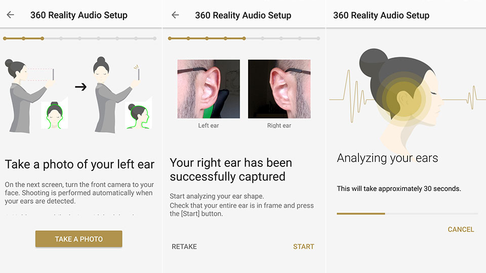360 Reality Audio surround sound setup