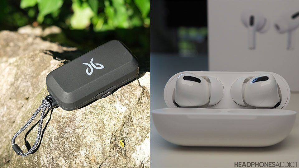 Jaybird Vista vs. Apple AirPods Pro cases