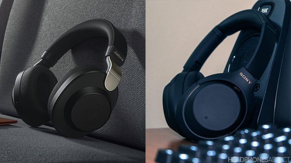 Sony WH-1000XM4 vs. Jabra Elite 85h headphones design