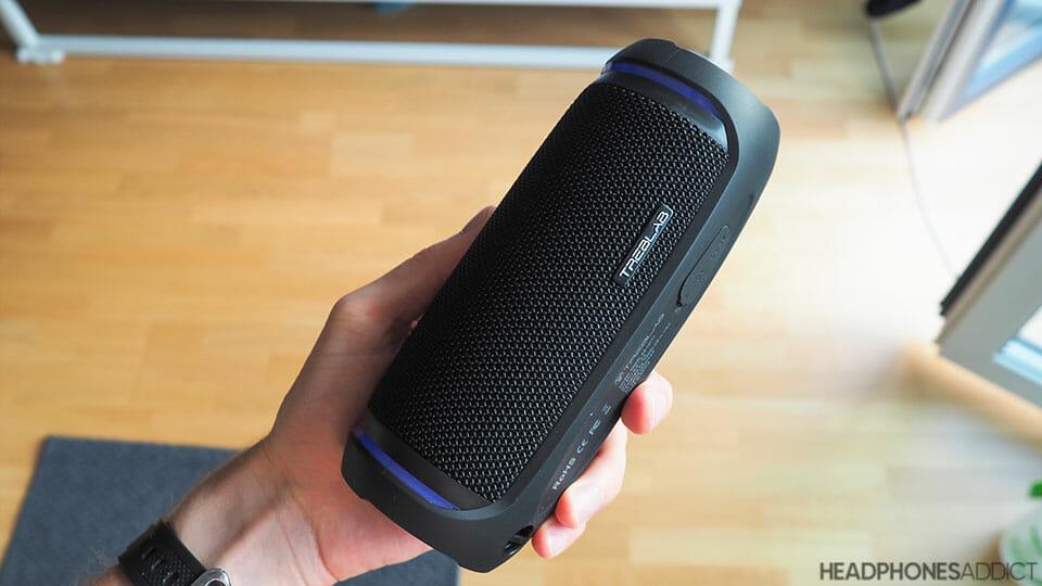 Treblab HD77 Bluetooth speaker side
