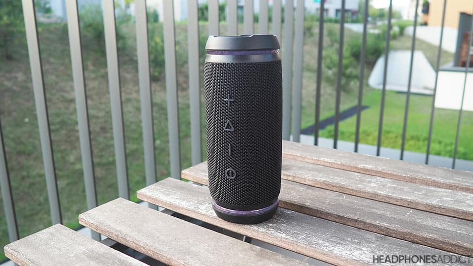 Treblab HD77 Bluetooth speaker standing