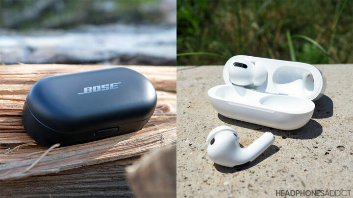 Bose Sport Earbuds vs. Apple AirPods Pro cases