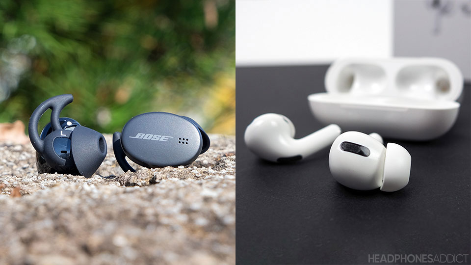 Bose Sport Earbuds vs. Apple AirPods Pro earbuds