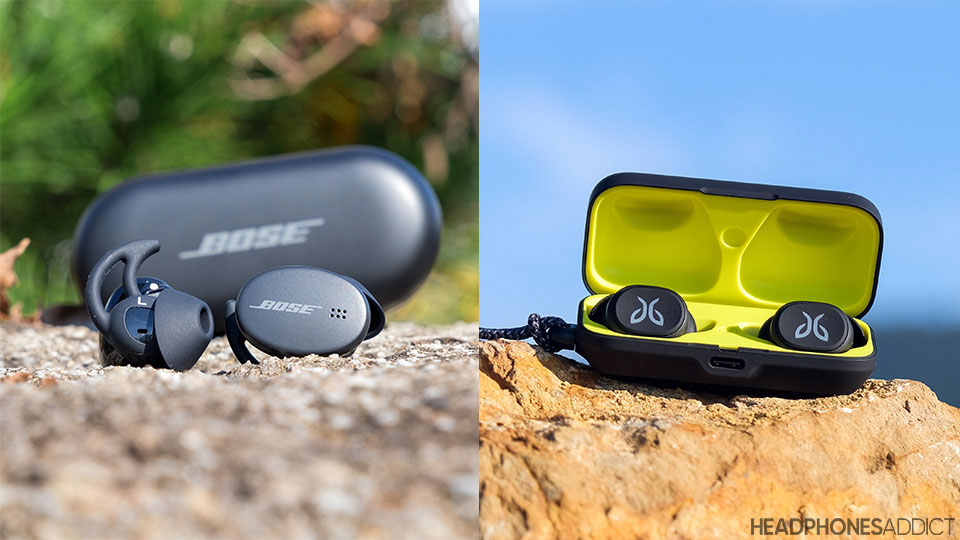Bose Sport Earbuds vs. Jaybird Vista cases