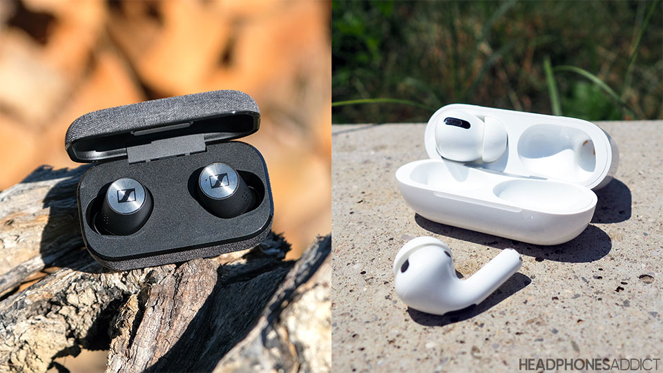Sennheiser Momentum True Wireless 2 vs. Apple AirPods Pro true wireless earbuds