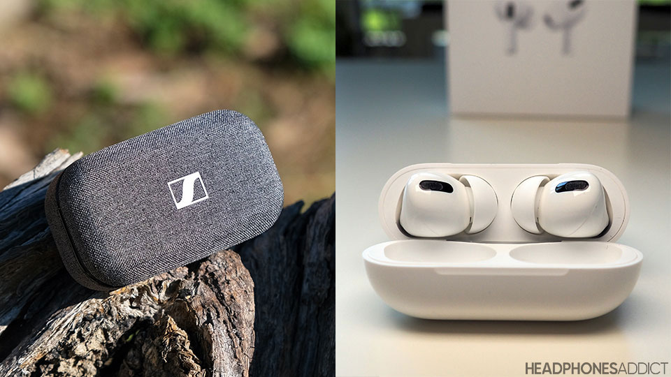 Sennheiser Momentum True Wireless 2 vs. Apple AirPods Pro the look