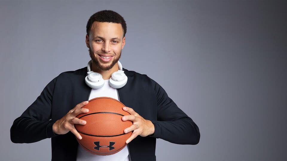 Stephen Curry JBL headphones