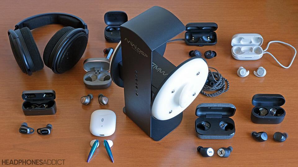 MiniDSP with headphones